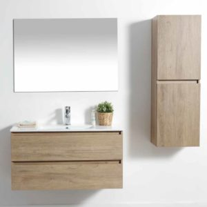 ארון אמבטיה תלוי פורמיקה עץ אלון טבעי URBAN