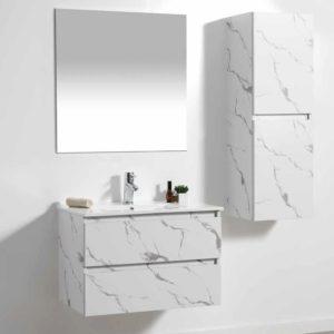 ארון אמבטיה תלוי פורמיקה לבן אבן שיש URBAN