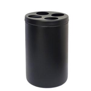 כוס למברשות שיניים BLACKY שחור מט