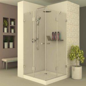 מקלחון פינתי לפי מידה קבוע+דלת