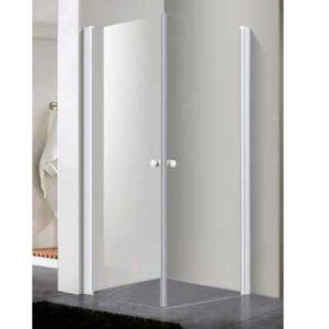 מקלחון פינתי לבן שתי דלתות נפתחות