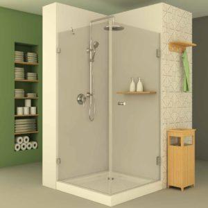 מקלחון פינתי לפי מידה קבוע ודלת