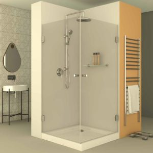 מקלחון פינתי לפי מידה שתי דלתות צירים