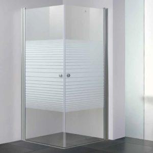 מקלחון פינתי שתי דלתות נפתחות 90 מעלות