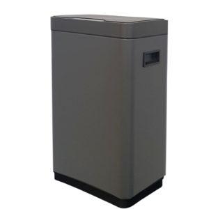 פח אשפה למטבח 30 ליטר סנסור מלבני אפור גרפיט