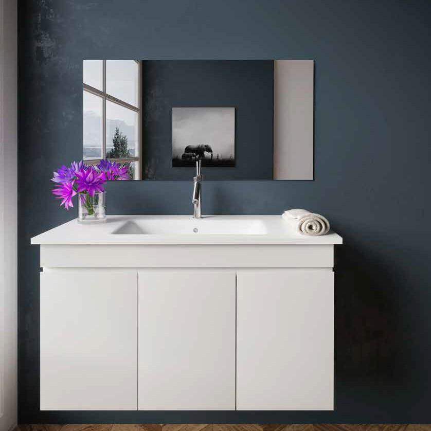 ארון אמבטיה תלוי אפוקסי TOWN לבן