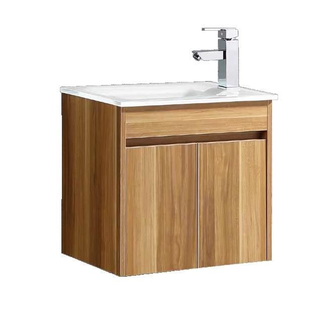 """ארון אמבטיה 50/34 ס""""מ טבעי כולל ברז ומראה"""