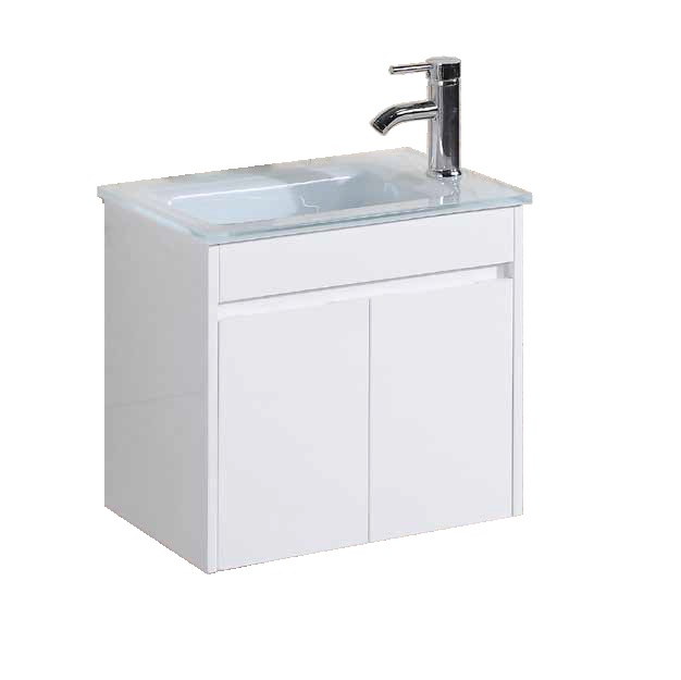 """ארון אמבטיה 50/34 ס""""מ לבן כולל ברז ומראה"""