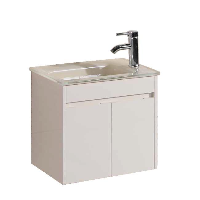 """ארון אמבטיה 50/34 ס""""מ שמנת כולל ברז ומראה"""