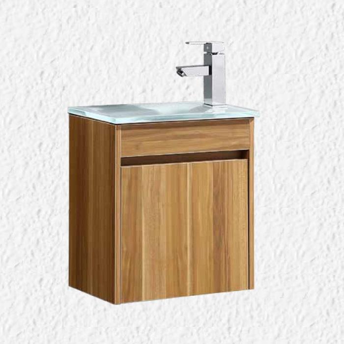 """ארון אמבטיה 43/26 ס""""מ טבעי כולל ברז ומראה"""