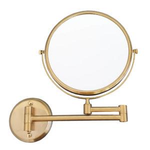 מראה מגדילה פי 7 לקיר דו צדדית זהב מט Z515MG