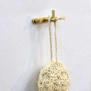 קולב למגבות אמבטיה בודד זהב מט PYG201MG 3