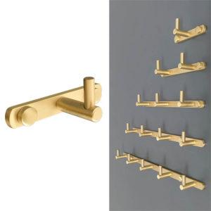 קולב למגבות אמבטיה בודד זהב מט PYG201MG 1