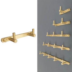 קולב למגבות אמבטיה זוגי זהב מט PYG202MG 1