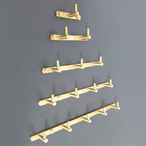 קולב למגבות אמבטיה חמישה ווים זהב מט PYG205MG 2