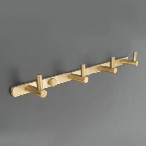 קולב למגבות אמבטיה ארבעה ווים זהב מט PYG204MG 3