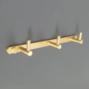 קולב למגבות אמבטיה שלושה ווים זהב מט PYG203MG 3