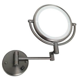 מראה תאורת לד מגדילה פי 7 לקיר גרפיט M25GR