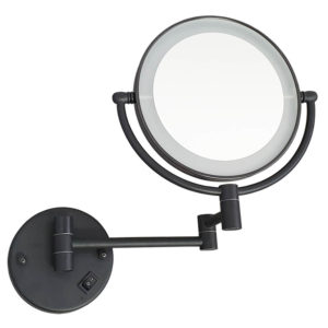 מראה תאורת לד מגדילה פי 7 לקיר שחור M25BLK