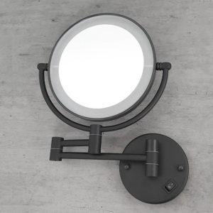 מראה תאורת לד מגדילה פי 7 לקיר שחור M25BL 3