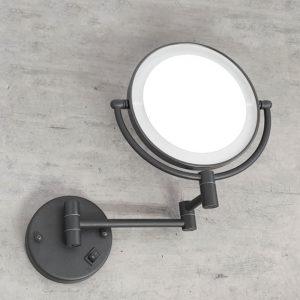 מראה תאורת לד מגדילה פי 7 לקיר שחור M25BL 5