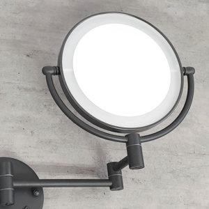 מראה תאורת לד מגדילה פי 7 לקיר שחור M25BL 6