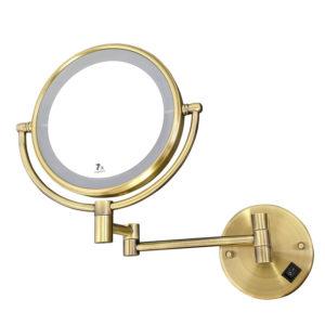 מראה תאורת לד מגדילה פי 7 לקיר ברונזה M25BR