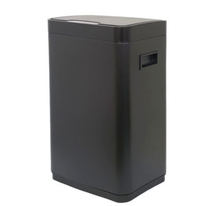 פח אשפה למטבח 30 ליטר סנסור מלבני שחור מט