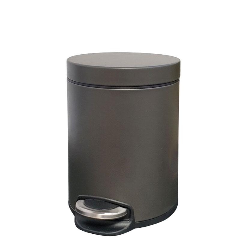 פח אשפה עגול 3 ליטר JAVA גרפיט טריקה שקטה