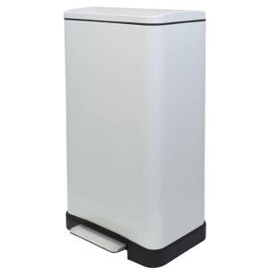 פח אשפה למטבח 45 ליטר מלבני לבן JAVA