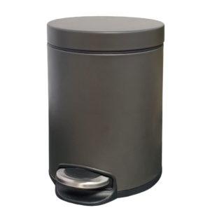 פח אשפה עגול 5 ליטר JAVA גרפיט טריקה שקטה