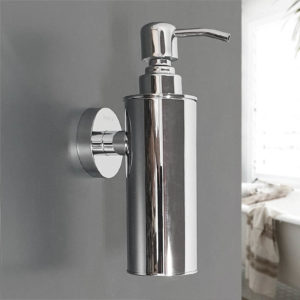 דיספנסר לסבון נוזלי מדגם לוטוס ניקל מבריק 3