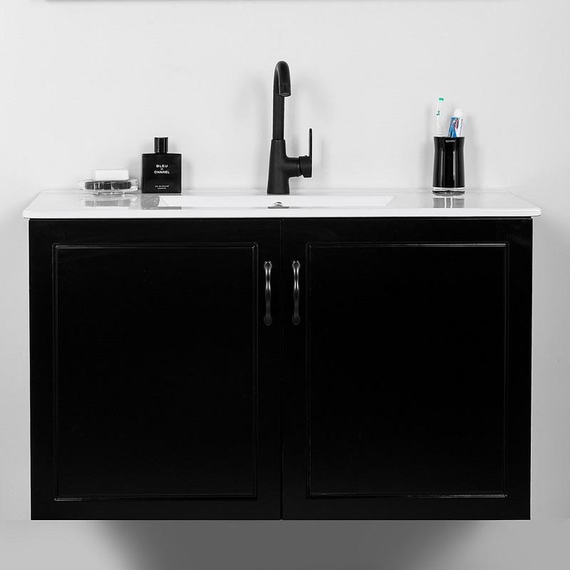 """ארון אמבטיה תלוי אפוקסי 100 ס""""מ שחור רנסנס"""
