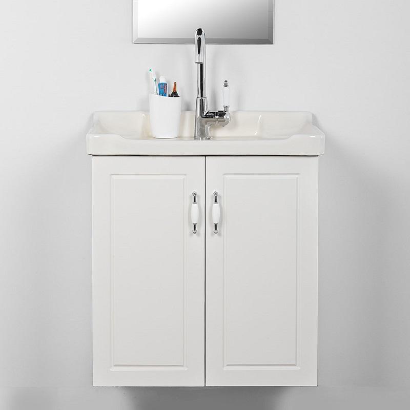 """ארון אמבטיה תלוי אפוקסי 60 ס""""מ לבן רנסנס"""