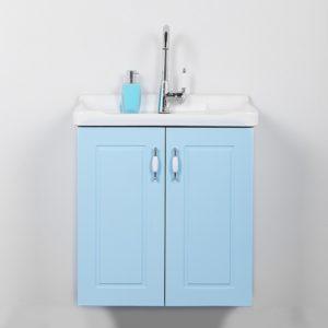 """ארון אמבטיה תלוי אפוקסי 60 ס""""מ תכלת רנסנס"""