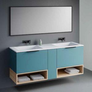 ארון אמבטיה כפול אפוקסי TWIN