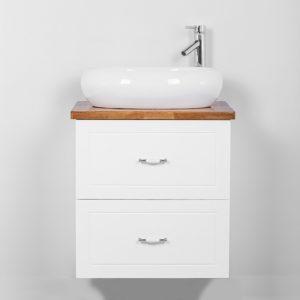 """ארון אמבטיה תלוי אפוקסי 60 ס""""מ לבן מט"""