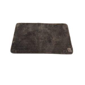 שטיח אמבט עם גומי נוגד החלקות אפור