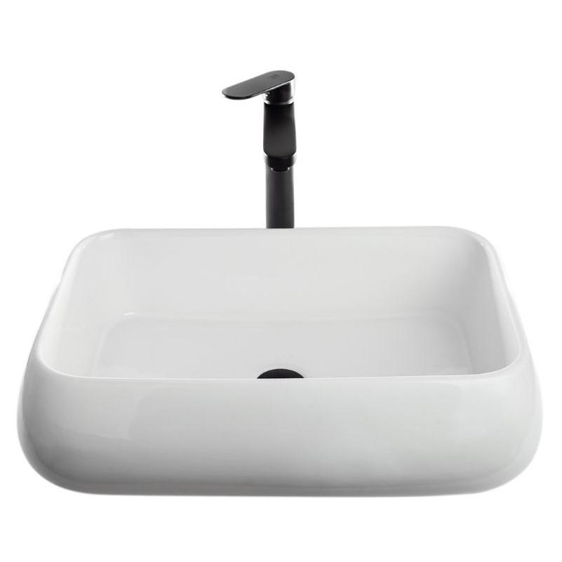 כיור אמבטיה מלבני מעוגל 62/42 לבן