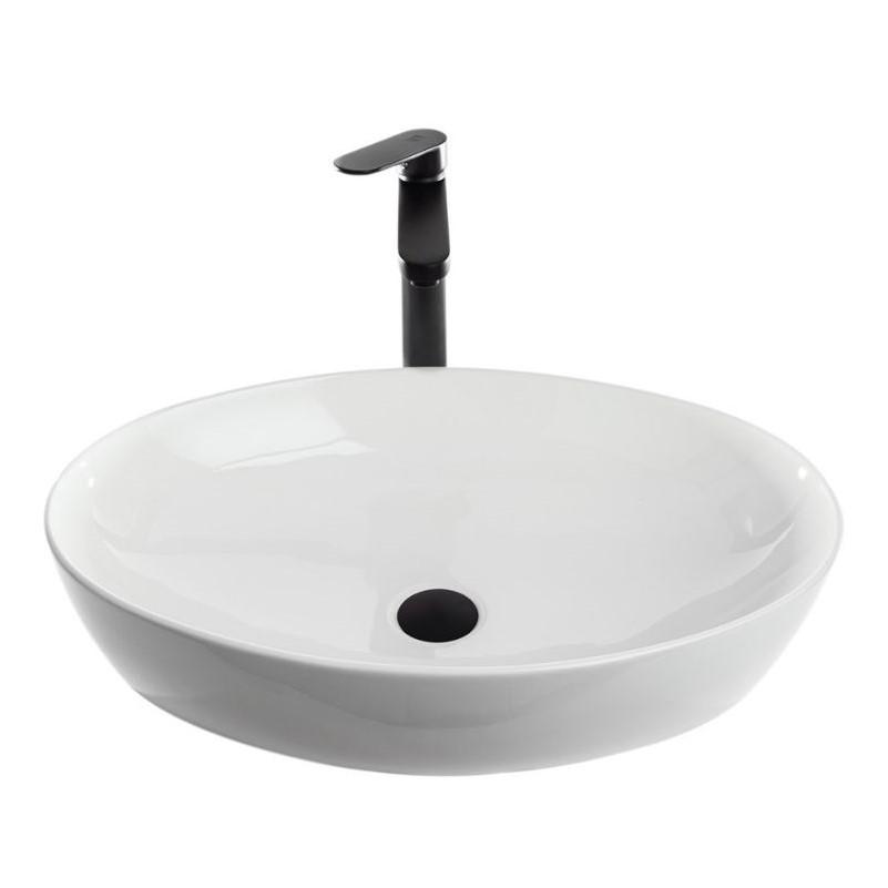 כיור אמבטיה חרס אובלי שפה דקה 62/41 לבן