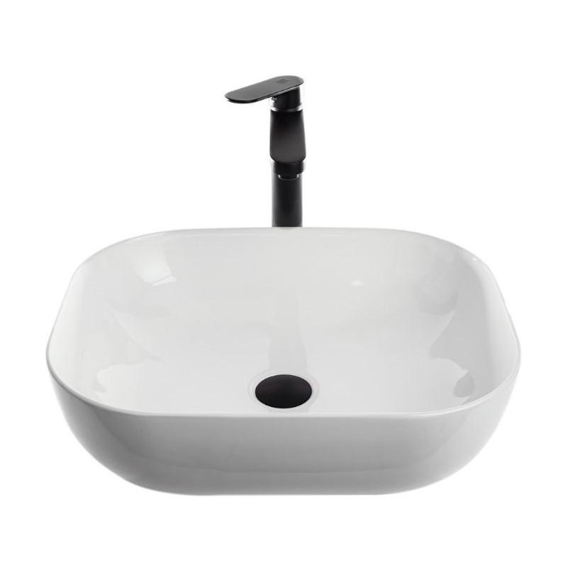 כיור אמבטיה מונח מלבני פינות מעוגלות 50/40 לבן