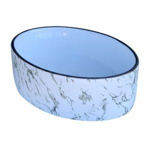 כיור אמבטיה אובלי 50/35 שיש לבן