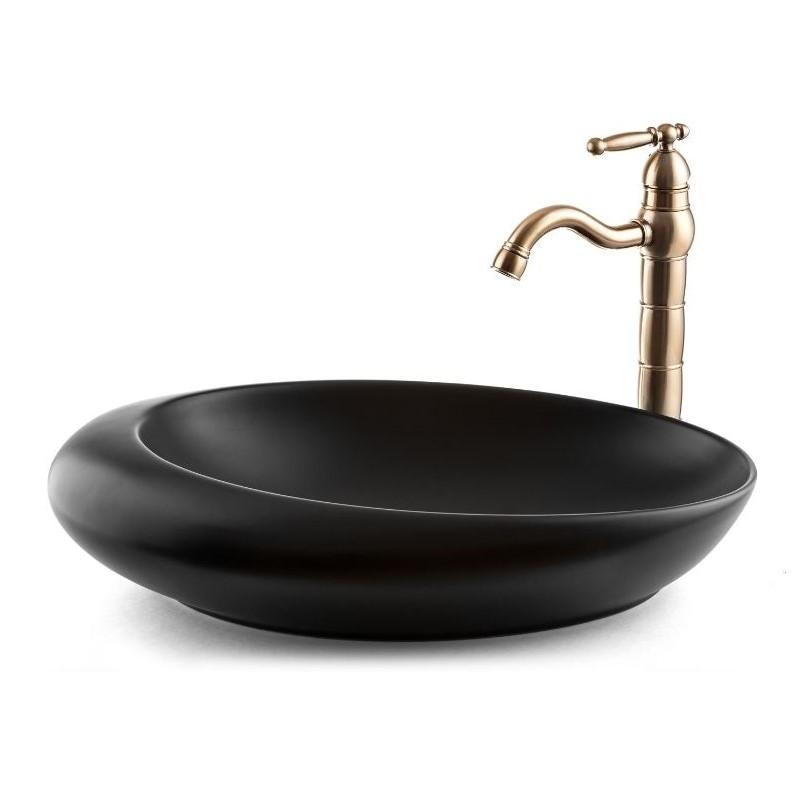 כיור אמבטיה מונח סירה 57/37 שחור מט