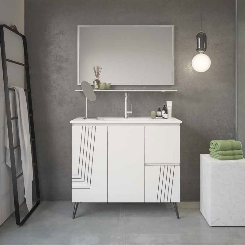 ארון אמבטיה אמבין HPL דגם בזל