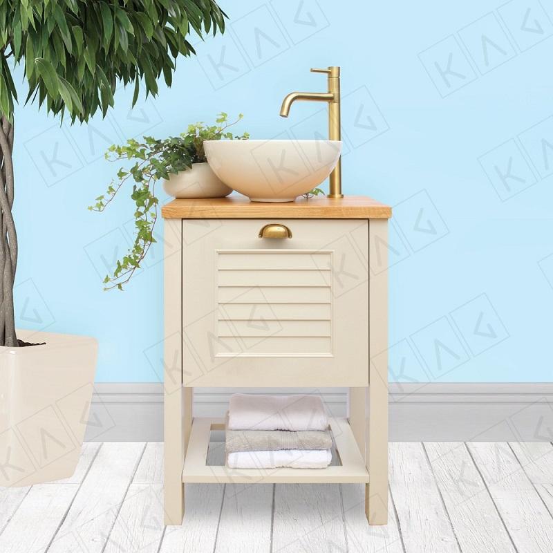 """ארון אמבטיה עומד 50/38 ס""""מ לבן מט דגם פאלמה"""