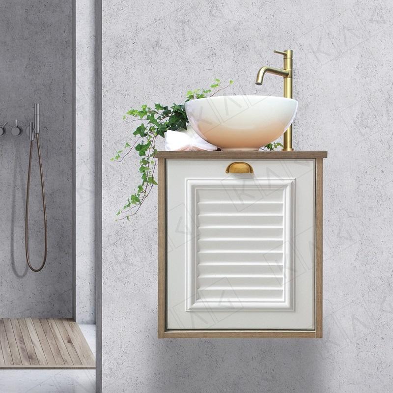 """ארון אמבטיה תלוי 46/30 ס""""מ לבן מט דגם פלרמו"""