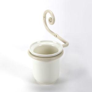 כוס למברשת שיניים תלויה עבודת יד נפחות שבלול קרם 1