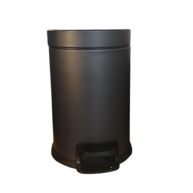 פח אשפה עגול 3 ליטר גרפיט טריקה שקטה