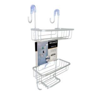 מדף רשת תלוי על מקלחון 3 קומות אלומניום