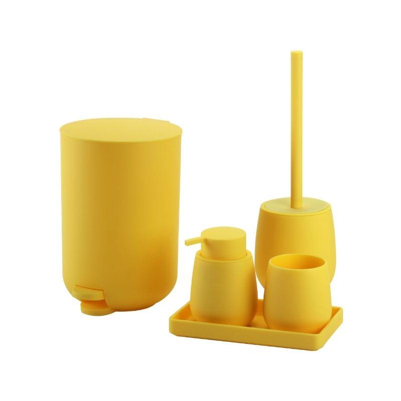 סט אביזרי אמבטיה מיאמי צהוב